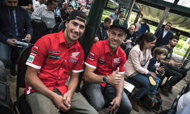 El Monster Energy Honda Team, en la presentación del Dakar en Barcelona