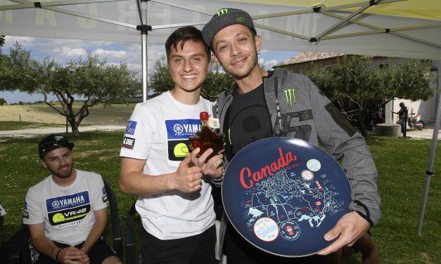 Los pilotos del Marter Camp visitan el rancho de Valentino Rossi