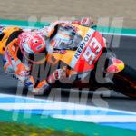 Jerez: el Campéon del Mundo de MotoGP con «las alas mojadas»