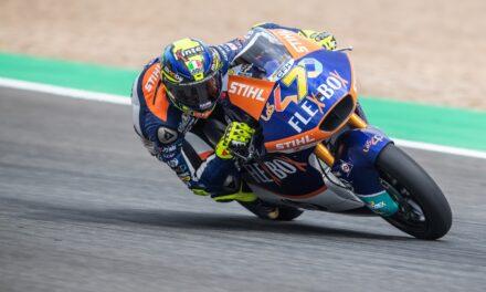 Lorenzo Baldassarri gana en Moto2 en Jerez por delante de Navarro y Fernández