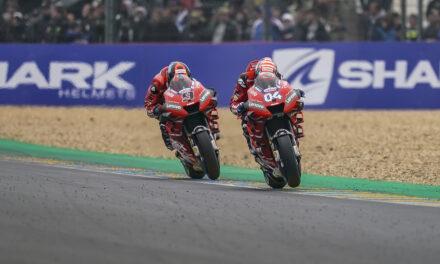 Doble podio para el Ducati Team en Le Mans con Dovizioso segundo y Petrucci tercero